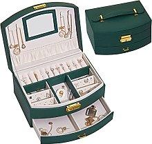 New double-layer jewelry storage box large