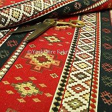 New Furnishing Fabrics Red Blue Chenille