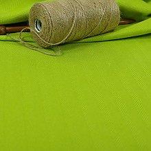New Furnishing Fabrics Soft Herringbone Lime Green
