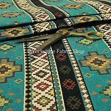 New Furnishing Fabrics Teal Blue Chenille