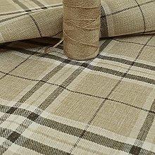 New Furnishing Fabrics Tweed Textured Check Tartan