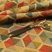 New Furnishing Fabrics Yellow Multicolour Chenille
