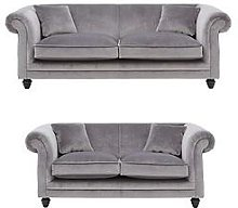 New Grace 3-Seater + 2-Seater Fabric Sofa Set (Buy