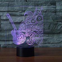 New Guitar Touch Table Lamp 7 Colors Changing Desk