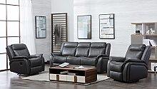 New Hartfordshire Leather Reclining Sofa Set Non