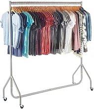 NEW HEAVY DUTY SILVER CLOTHES,GARMENT RAILS 4ft