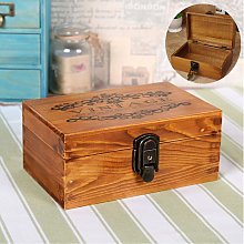 New Jewelry Box Vintage Wood With Metal Lock And