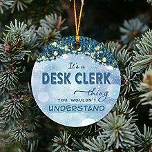 New Job Christmas Tree Ornaments 3 inches Plastic