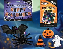 New JOBLOT of 7 Halloween Decor - Tinsel/Happy