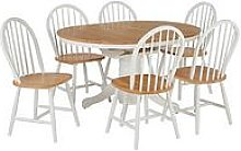 New Kentucky 100 - 133 Cm Extending Dining Table + 6 Chairs