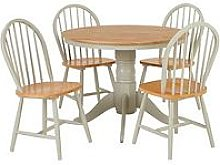 New Kentucky 100 Cm Round Dining Table + 4 Chairs