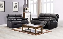 New Landos Black Reclining Sofa Suite | 3 + 2