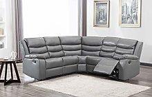 New Landos Grey Reclining Leather Corner Sofa