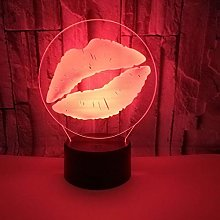 New Lip Stereo Vision 3D Night Light Table Lamp