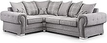 New Luxury Corner Sofa-Verona Small Sofa 2C1-Grey