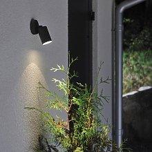 New Modena outdoor wall light, GU10 spot, black