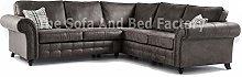New Oakridge Extra Large 5 Seater Grey Leather