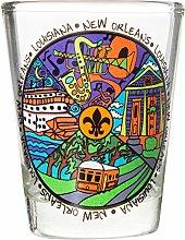 New Orleans Louisiana Iconic Multicolor Souvenir