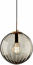New Pendant Light Design with Ribbed Glass Globe