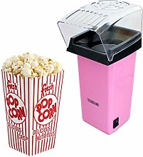 NEW PINK ELECTRIC POPCORN MAKER FAT OIL FREE HOT
