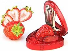 New Plastic Strawberry Slicer Fruit Carving Knife