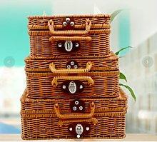 New rattan storage box vintage suitcase wedding