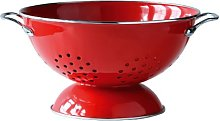 New Red Enamel Metal Frame Coated Colander For