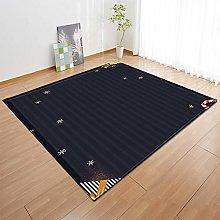 New Rug Decor Blanket 3d Large Area Carpet Black