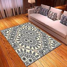New Rug Decor Blanket Large Area Carpet Beige Blue