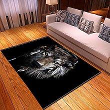 New Rug Decor Blanket Large Area Carpet Black