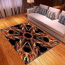 New Rug Decor Blanket Large Area Carpet Black Red