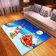 New Rug Decor Blanket Large Area Carpet Blue White