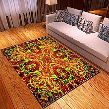 New Rug Decor Blanket Large Area Carpet Red Brown