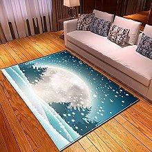 New Rug Decor Blanket Large Area Carpet Teal Blue