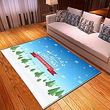New Rug Decor Blanket Large Area Carpet White Blue