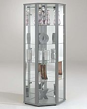 New Silver Space Corner Glass Cabinet…