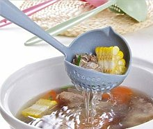 New Soup Spoon Long Handle Kitchen Strainer Solid