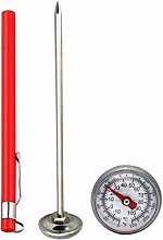 New Stainless Steel Pocket Probe Thermometer Gauge