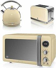 New Swan Kitchen Appliance Retro Set - Cream