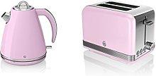 NEW Swan Kitchen Appliance Retro Set - PINK 1.5