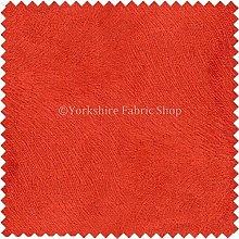 New Textured Pimento Orange Colour Soft Velvet