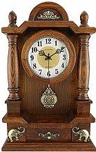 New upgrade Desk Clock With Drawer And Pendulum
