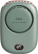 New USB Mini Neck fan, portable,Green