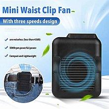 NEW Waist Fan USB Rechargeable Portable, Mini