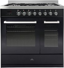 New World LOCHABER90DFBLK 90cm Dual Fuel Cooker -