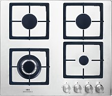 New World NWLE60S Electric Gas Hob - Stainless
