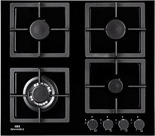 New World NWLEG60 Cast Iron Support Gas Hob - Black