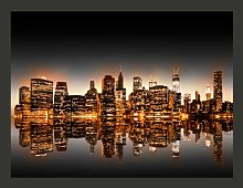 New York Gold 154cm x 200cm Wallpaper East Urban