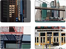 New York Set of 4 Placemats by Leslie Gerry - Set A