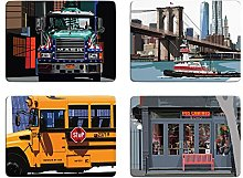 New York Set of 4 Placemats by Leslie Gerry - Set C
